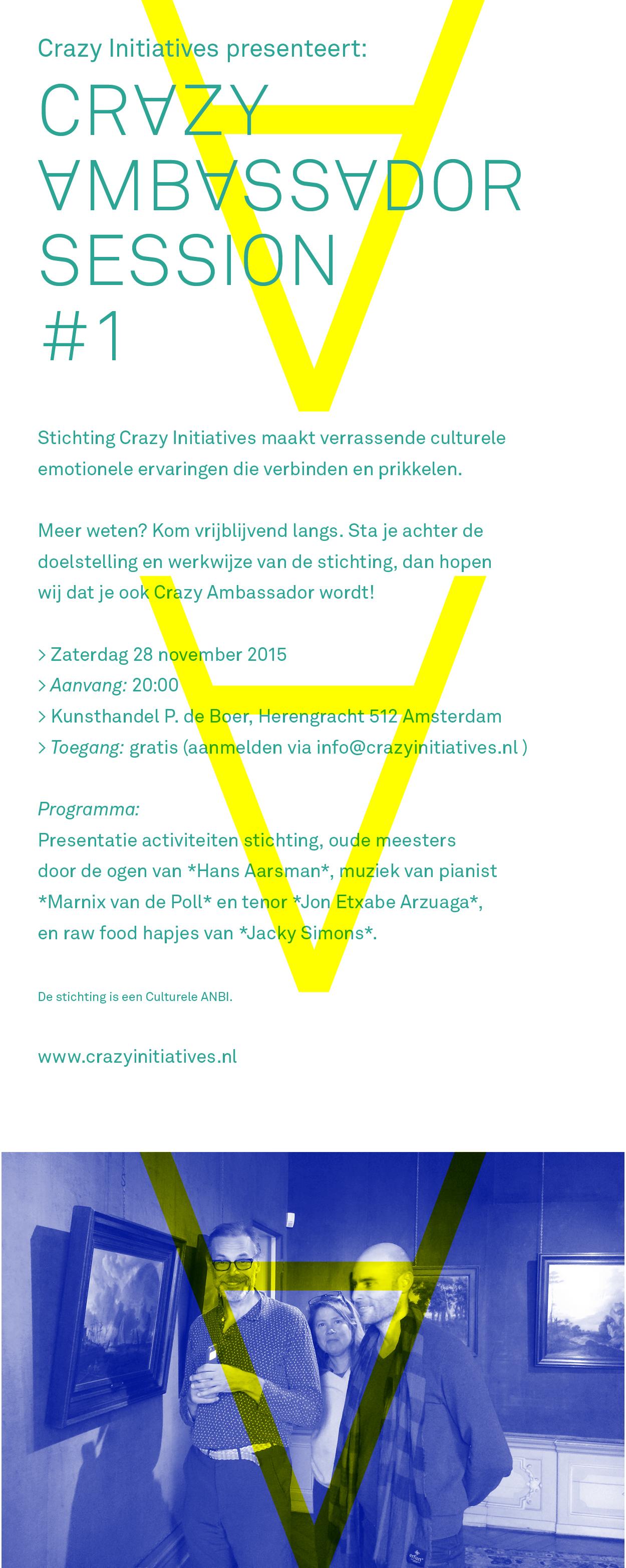 CI-Crazy Ambassador Session #1 uitnodiging